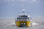 Whale watching is an amazing adventure and this boat takes you into the waters off Kaikoura, New Zealand for a look at the marine life of New Zealand.